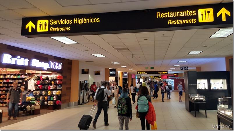 Aeropuerto de Lima, en la escala hacia Santiago de Chile