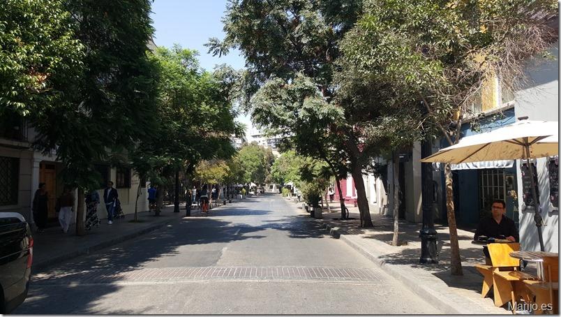 Calle del Barrio Lastarria - Vinos y bares en Santiago de Chile