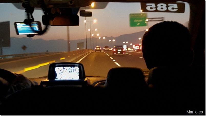 En la ruta hacia el hotel en Santiago de Chile