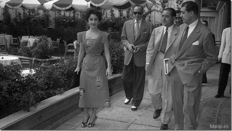 Elizabeth Taylor en el hotel Castellana Hilton - Archivo Regional de la CAM